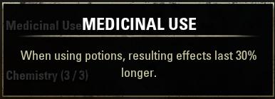 Medicinal Use ESO