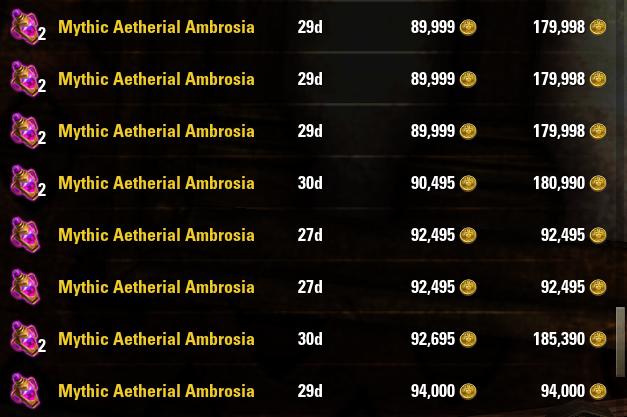 Mythic Aetherial Ambrosia