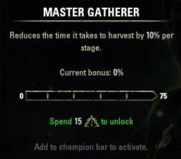 Master Gatherer ESO