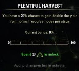 Plentiful Harvest ESO